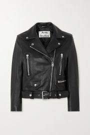 Leather biker jacket at Net A Porter