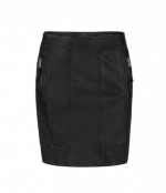 Leather biker pencil skirt at All Saints at All Saints