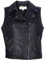 Leather biker vest by Michael Kors at Farfetch