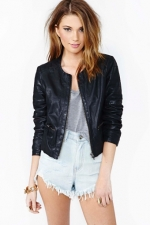 Leather bomber jacket at Nasty Gal at Nasty Gal