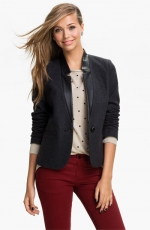 Leather collar blazer from Nordstrom at Nordstrom