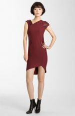 Leather detail dress by Helmut Lang at Nordstrom