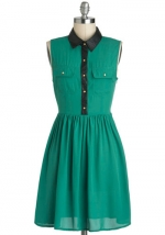 Leather detail shirt dress at Modcloth