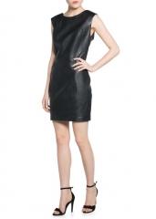 Leather dress at Mango
