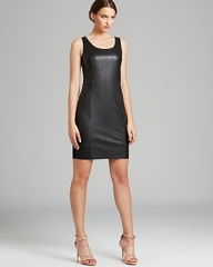 Leather dress by Calvin Klein at Bloomingdales