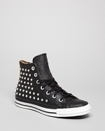 Leather high tops by Converse at Bloomingdales