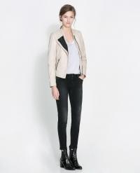 Leather jacket at Zara