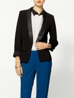 Leather lapel blazer at Piperlime at Piperlime