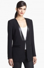 Leather lapel blazer by Robbi and Nikki at Nordstrom