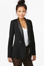 Leather lapel blazer from Nasty Gal at Nasty Gal