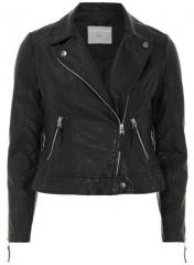Leather look biker jacket at Dorothy Perkins