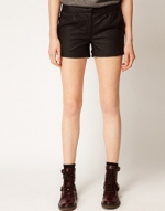 Leather look shorts from ASOS at Asos