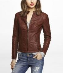 Leather moto jacket at Express