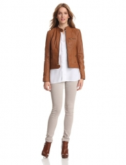 Leather moto jacket by Kenneth Cole at Amazon