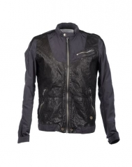 Leather nylon jacket by Diesel at Yoox