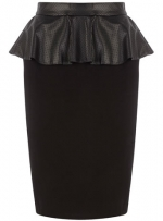 Leather peplum skirt from Dorothy Perkins at Dorothy Perkins