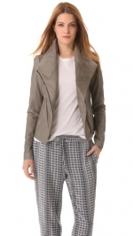 Leather scuba jacket by Vince at Shopbop