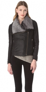 Leather shearling jacket like Alexs at Shopbop