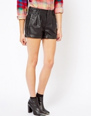 Leather shorts by Esprit at Asos