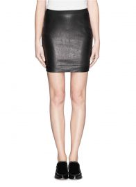 Leather skirt by Helmut Lang at Lane Crawford