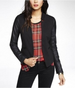Leather sleeve blazer by Minus The at Express