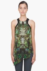 Leather trim cicada tank by Helmut Lang at SSENSE