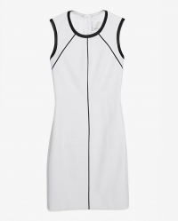 Leather trim dress by Yigal Azrouel at Intermix