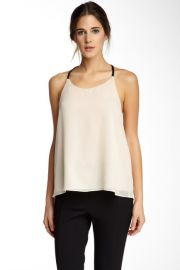 Leather trim tank by Alice and Olivia at Nordstrom Rack