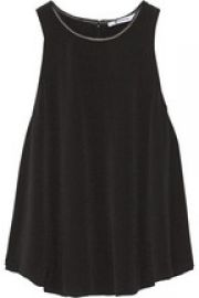 Leather trimmed tank at Net A Porter