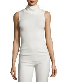 Leendelle Refine Ribbed-Knit Funnel-Neck Sweater at Neiman Marcus