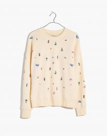 Lei-cation Embroidered Mainstay Sweatshirt at Madewell