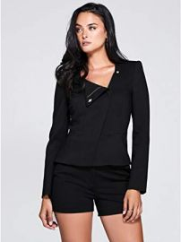 Leigh Zip Front Blazer at Guess