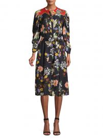 Leila Floral Shirtdress at Saks Fifth Avenue