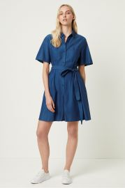 Leila Ixie Button Shirtdress by French Connection at French Connection