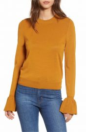 Leith Flare Cuff Sweater at Nordstrom