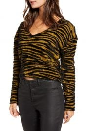 Leith Tiger Stripe Pullover   Nordstrom at Nordstrom