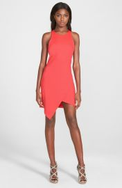 Leith Crepe Tank Dress in Red Bloom at Nordstrom