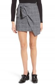 Leith Faux Wrap Miniskirt at Nordstrom