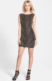 Leith Glitter V-Back Dress at Nordstrom