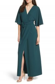 Leith Kimono Maxi Dress at Nordstrom