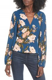 Leith Pleated Sleeve Blouse   Nordstrom at Nordstrom