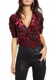 Leith Puff Sleeve Wrap Bodysuit   Nordstrom at Nordstrom