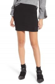 Leith Ribbed Miniskirt at Nordstrom