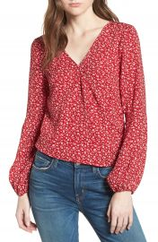 Leith Surplice Blouse at Nordstrom