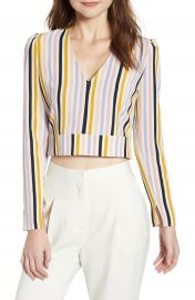 Leith V-Neck Crop Top  Regular  amp  Plus Size    Nordstrom at Nordstrom