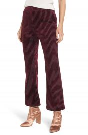 Leith Velour Ankle Trousers at Nordstrom