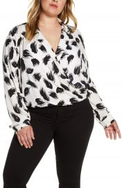 Leith Wrap Front Top  Regular  amp  Plus Size    Nordstrom at Nordstrom