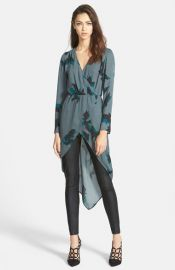 Leith Wrap Pullover Blouse at Nordstrom