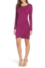 Leith ruched long sleeve dress at Nordstrom Rack