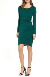 Leith ruched long sleeve dress at Nordstrom